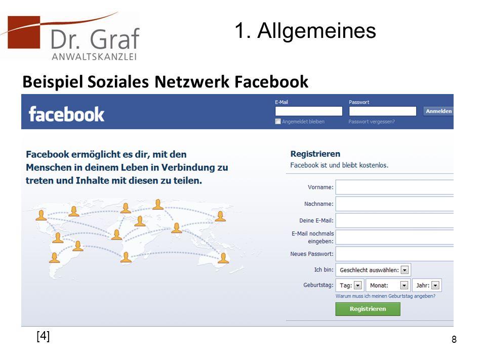 1. Allgemeines Beispiel Soziales Netzwerk Facebook [4]